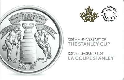 1892-2017 Canada 125th Anniversary of the Stanley Cup,10 -25Cents in a Pack UNC.