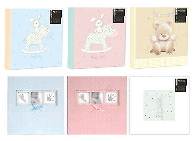 Large Baby Photo Album 6x4 200 Photos Boy Girl Unisex Teddy Memo Slip In Gift