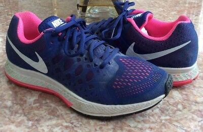 separation shoes 204e3 02a0b Nike Zoom Pegasus 31 Women s Navy-Blue Pink Running Shoes Size 8  654486-