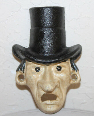 Top Hat Bottle Opener Cast Iron Vintage Bar Home Decor Man Cave Wall Mounted
