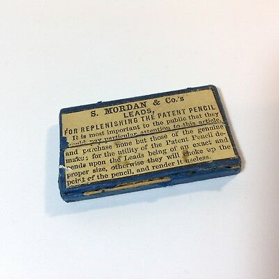 Antique Sampson S Mordan & Co Propelling Pencil Lead Refills In Box Case