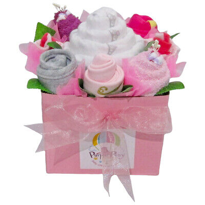 BABY BOUQUET Girl Baby Shower Quality Hamper Gift Set (HAM219) BRAND NEW