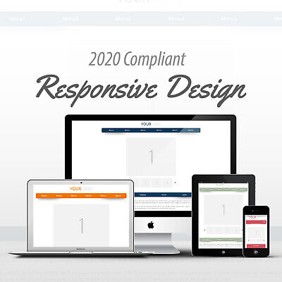 2018 Compliant Mobile Responsive Ebay Auction Listing Template Curved 24 Colors