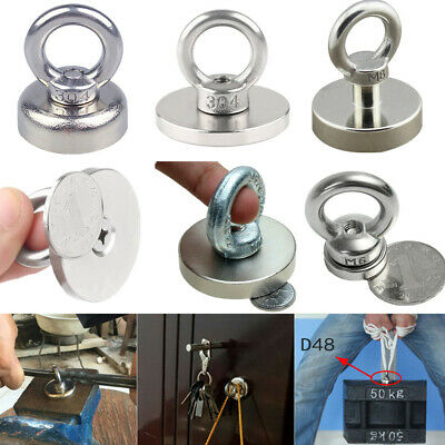 Super Strong Rare Earth Round River Fishing Eyebolt Circular Magnet Salvage Hook