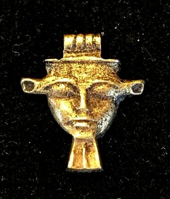 Ancient Egyptian Gold Amulet; Hathor's Face! New Kingdom, 18Th Dynasty!