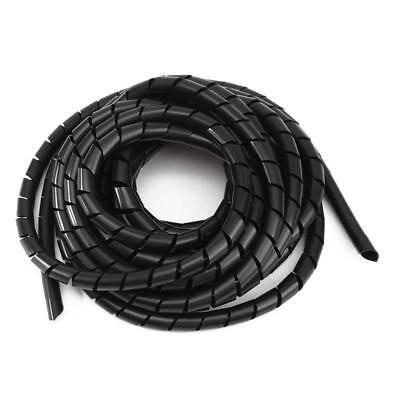 12mm Black spiral Wrapping Cable casing Cable Sleeves Winding pipe wrapping U7N6