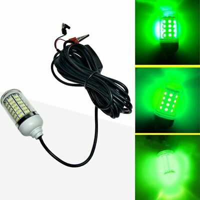 12V LED Green Underwater Submersible Night Fishing Light Crappie Shad Squid W2F0