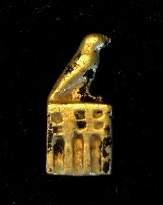 Ancient Egyptian Gold Amulet In The Form Of A Royal Serekh !