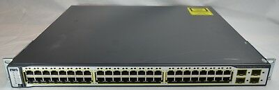 Cisco 3750 WS-C3750- 48PS-S V05 POE Switch CCNA CCNP CCENT ICND Lab 24 port (10)