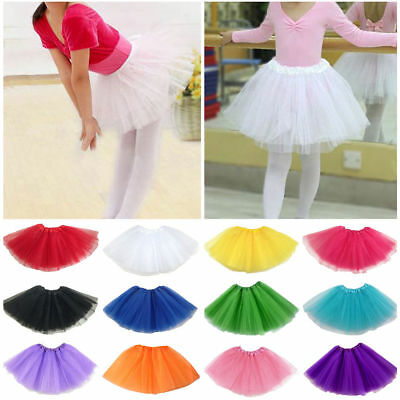 Girls tutu Ballet Dance Wear Costume Party skirt Girls Toddler Kids Skirt US