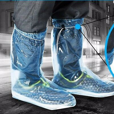 Outdoor Waterproof Shoes Covers Reusable Rain Boots Anti-Slip Cycling Overshoes