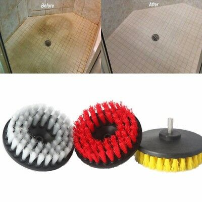 """5"""" Electric Drill Brush Plastic Round Disc Cleaning Brush For Carpet Glass Floor"""