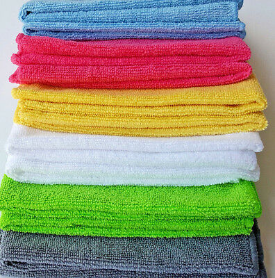 Large Microfibre Cleaning Cloths Bathroom Polish Dusters Towels Microfiber