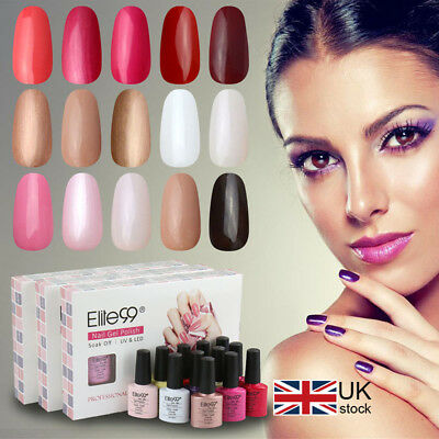 Elite99 Soak Off Gel Polish 5 Colours Set Gift Box Manicure Kit Varnish Nail Art