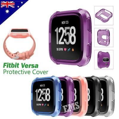 Soft Gel Silicon Protective Frame Cover Case For FITBIT VERSA /Lite Smart Watch