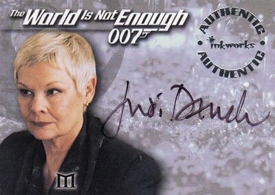 James bond The World is Not Enough Judi Dench as M A2 Auto Card