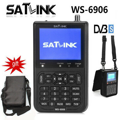 Genuine Satlink WS-6906 Digital Signal Meter Satellite Finder For DVB-S SAT Dish