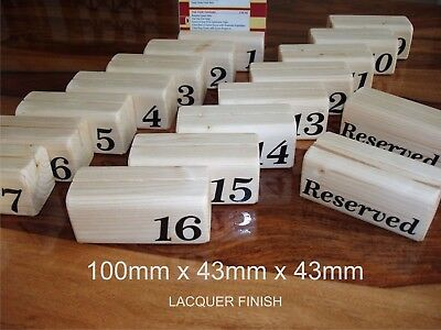 wood menu holders  x 1 with table number also available reserved holders
