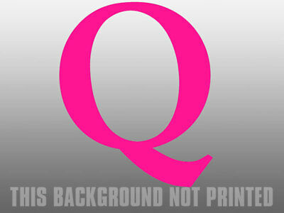 4x4 inch HOT PINK Q Shaped Sticker  - qanon anon female conservative trump love