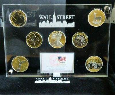 Wall Street Investment Silver Collection 2013 - 7 x 1 Unze gilded & platiniert