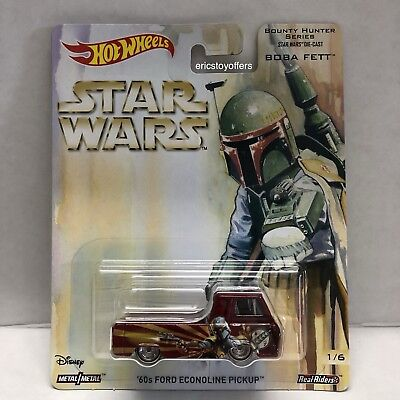Hot Wheels 2017 Star Wars Bounty Hunter 60s BOBA FETT Ford Econoline Pickup