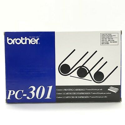 BROTHER PC-301 Cartridge Fax Machine Toner Print Refill Model 750 770 775 NEW
