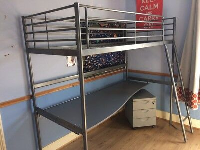 Ikea Svarta Loft Bed Frame With Desk