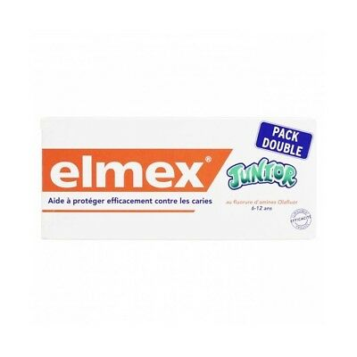 Elmex Dentifrice Junior 6-12 Ans Pack Double 2x75 ml