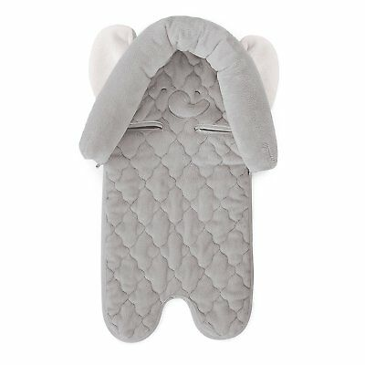Carters Infant Head Support for Carseats, Animal Design Elephant, Grey/White