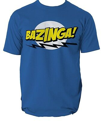 Bazinga T-Shirt Mens The Big Bang Theory Sheldon Cooper Periodic Table S-3XL