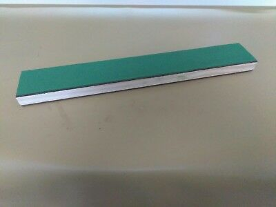 """17"""" X 2.5"""" Leather Sharpening Strop Double Sided Smooth & Green Compound Loaded"""