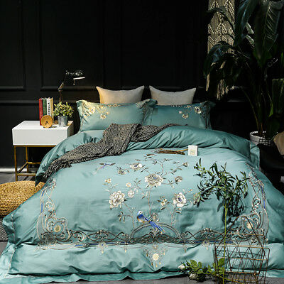 High Quality Embroidered Bedding Set Pure Cotton Soft Duvet Cover Bed Sheet King