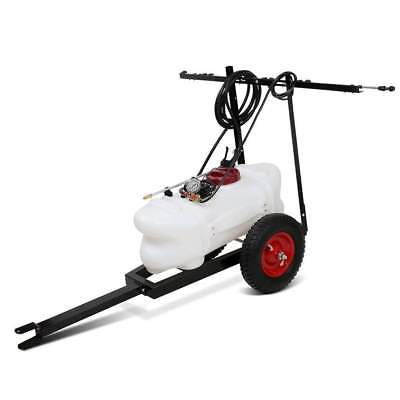 Weed Chemical Sprayer Trailer & Rear Boom Spray 60L Tank 12V Pump Garden Farm