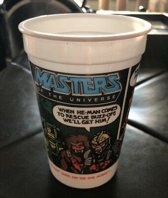 Vintage 1985 PEPSI Burger King Masters Of The Universe He-Man Evil Horde Cup 85
