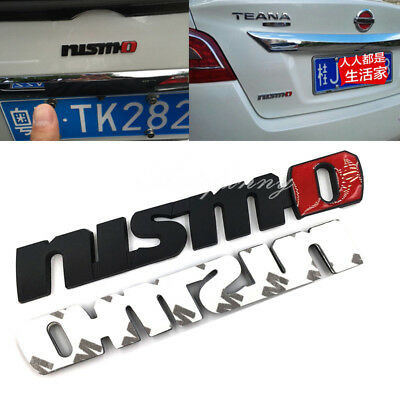 3D Metal Black/Red Nismo Logo Trunk Fender Emblem Decal Badge for Nissan Teana