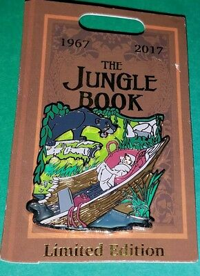 Disney Parks The Jungle Book 50th Anniversary Limited Edition Pin, NEW