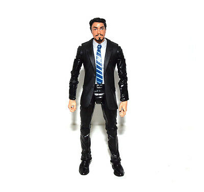 US! Marvel Legends Iron Man Tony Stark Head Agent Coulson Black Suit Body Figure