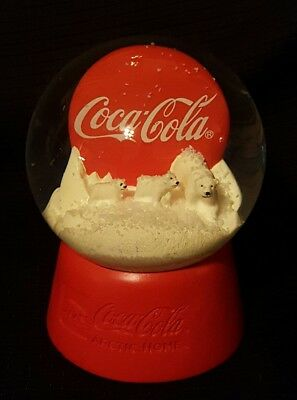 Coca Cola Coke Arctic Home Polar Bears Snow Globe Collectible gift