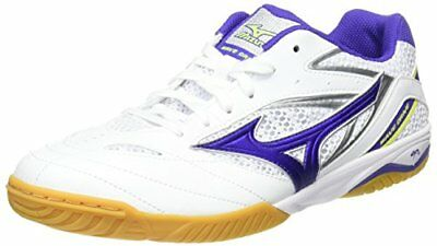 [Mizuno] table tennis shoes wave drive 8 white  purple  yellow 27.0 current mode