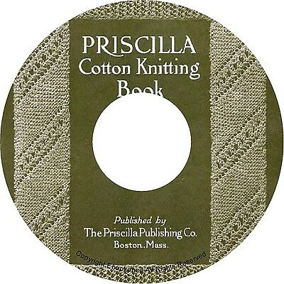 Vintage Priscilla Cotton Knitting Lace Purse Handbag Bonnet Patterns Book on CD