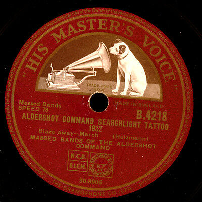 "MASSED BANDS ALDERSHOT COMMAND  ""Searchlight Tattoo 1932""  Blaze away / .. S8199"