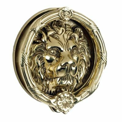 Sandringham' Large Polished Brass Lion Knocker