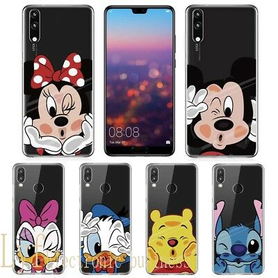 Cute Cartoon Soft Silicone Phone Case Cover for Huawei Mate P 20 Lite Pro Smart
