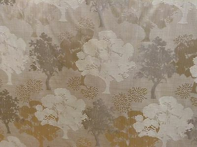 "Tree Tops Cotton Jacquard Beige Gold140cm/54"" Curtain/Craft Fabric"