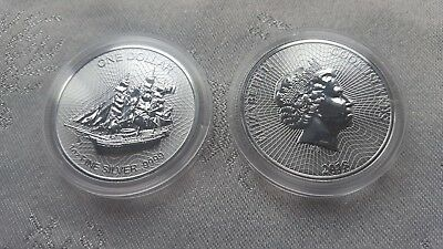 Silver Coin Cook Islands - Mutiny on the Bounty 2018 - 1 oz 99.99 % pure silver