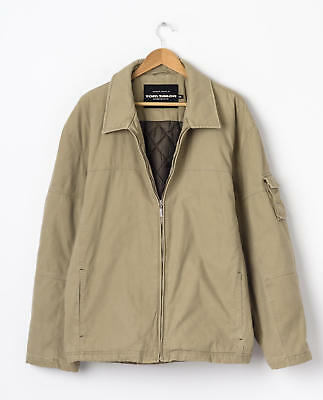 a3bc6d10374711 1 TOM TAILOR Harrington Jacket in Beige Size XXL 2XL Lightweight Casual  Outdoor