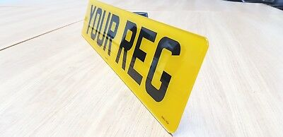 HIGH QUALITY Rear - Road Legal Number Plate Car Van 100% MOT Compliant FREE SHIP