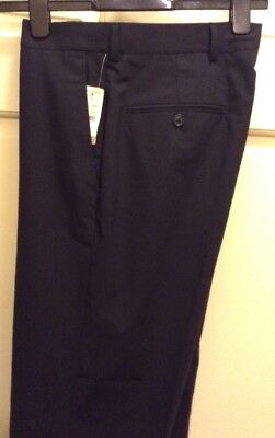 NWT Brooks Brothers Men's Fitzgerald Black Dress Pant Wool Blend W32/L28 F/Front