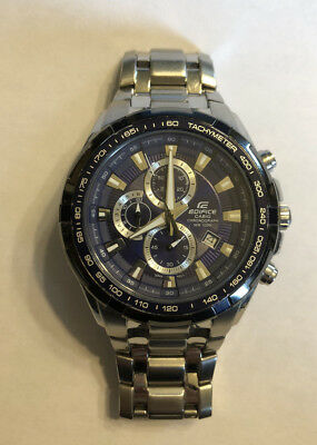 Casio Edifice Wr100m Chronograph Men S Casual Watch Ef 539 Stainless