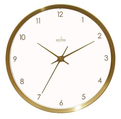 Acctim Eadie Design Brushed Gold Effect 25CM White Dial Wall Clock